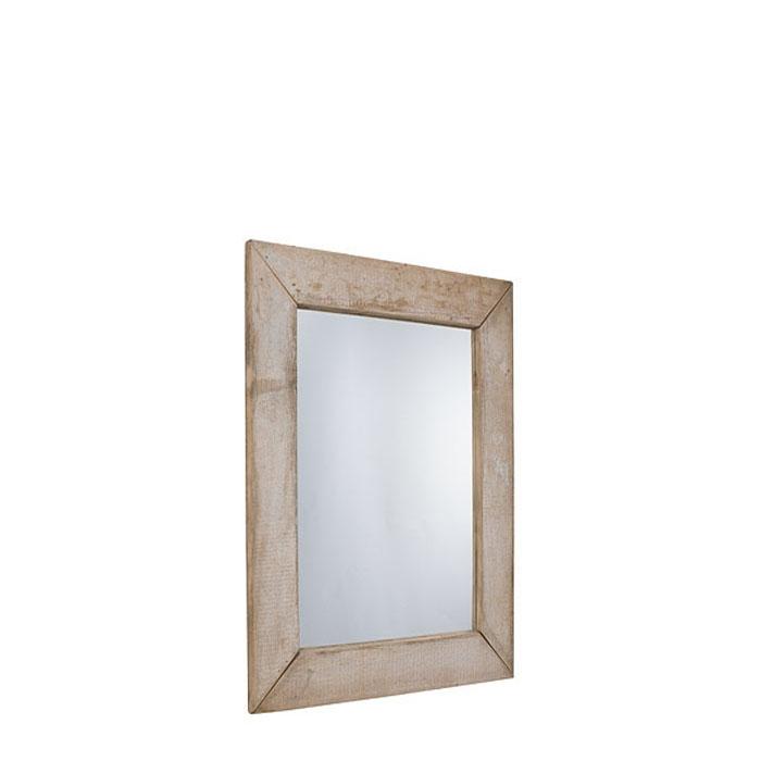 Miroir en bois brut couleur naturel 70 x 120 cm