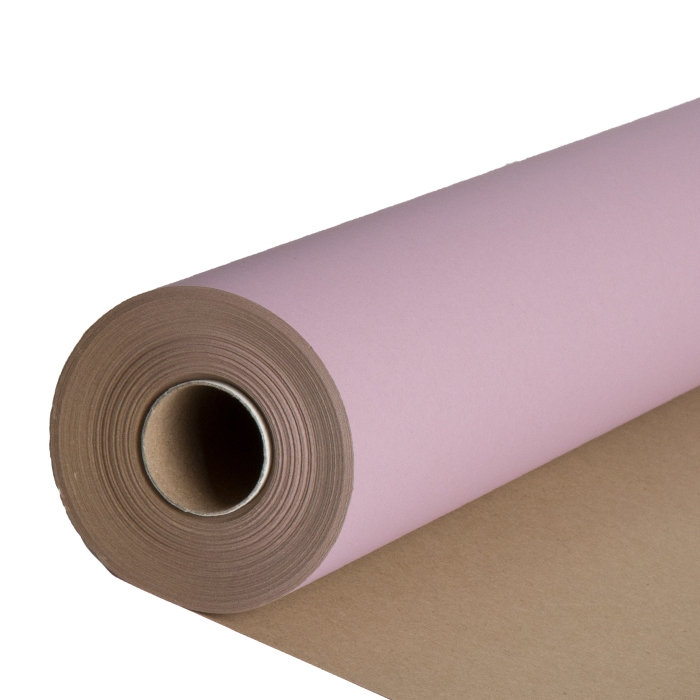 Natural and antique rose color paper roll 50m x 70cm