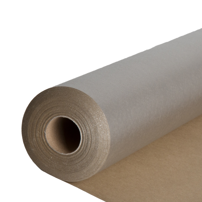 Shiny silver and natural color paper roll 50m x 70cm
