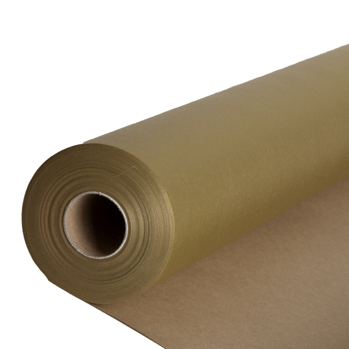 Shiny gold and natural color paper roll 50m x 70cm