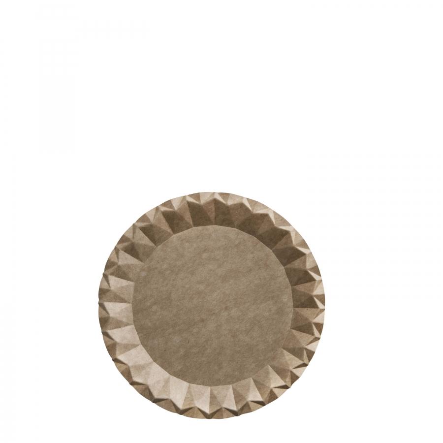 Disposable origami cardboard dessert plate d18 cm