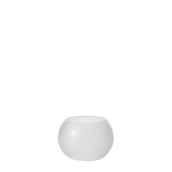 Mini bol porte-tealight en verre satine d7 h8 cm