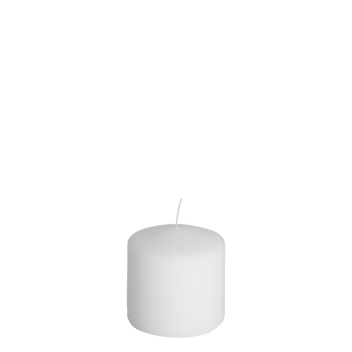 Pack of 4 white candles d10 h10 cm