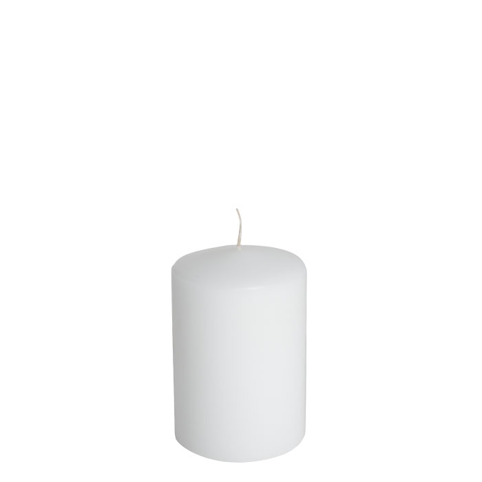 Pack of 4 white candles d10 h15 cm