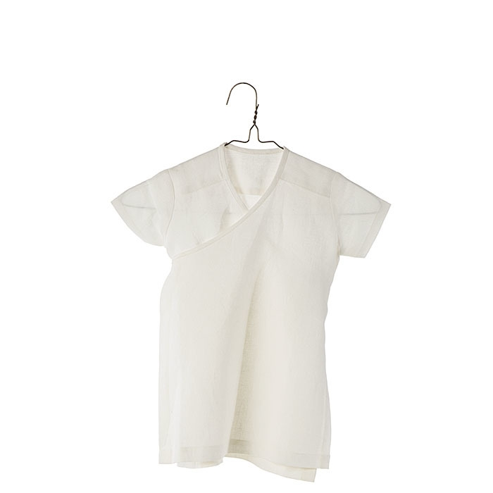 100%linen wraparound baby dress