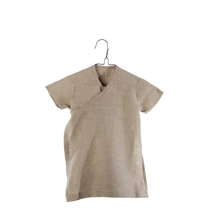 100%linen wraparound baby dress