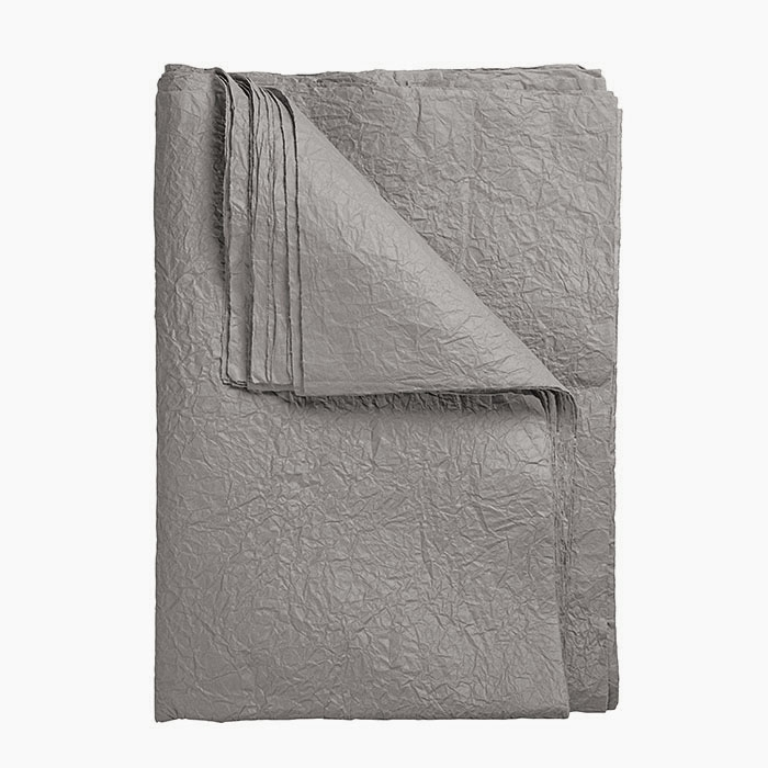 Creased handmade paper grey color (10 sheets) 70 x 100 cm