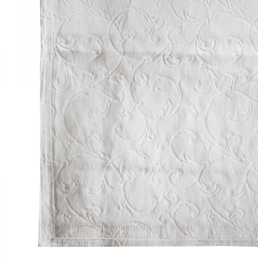 Telo matrimoniale damascato colore panna tilia 220 x 260 cm