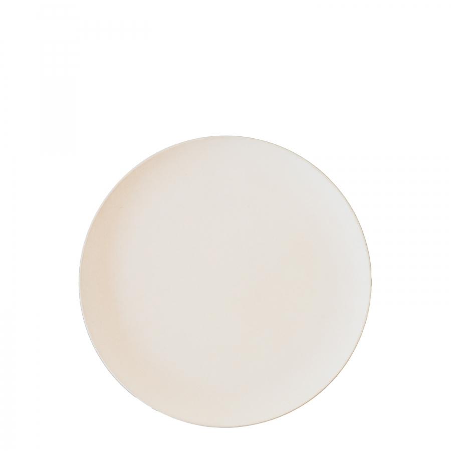 Cream bamboo dessert plate d20 cm