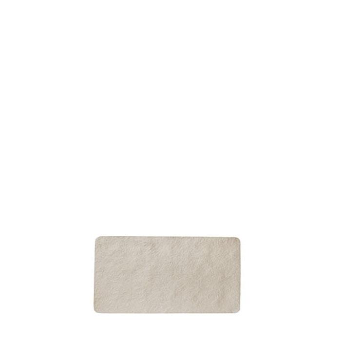 Small tray in artificial stone light color 17.6 x 32.5 cm