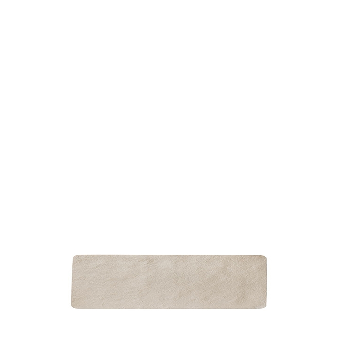 Small tray in artificial stone light colour 48 x 12 cm