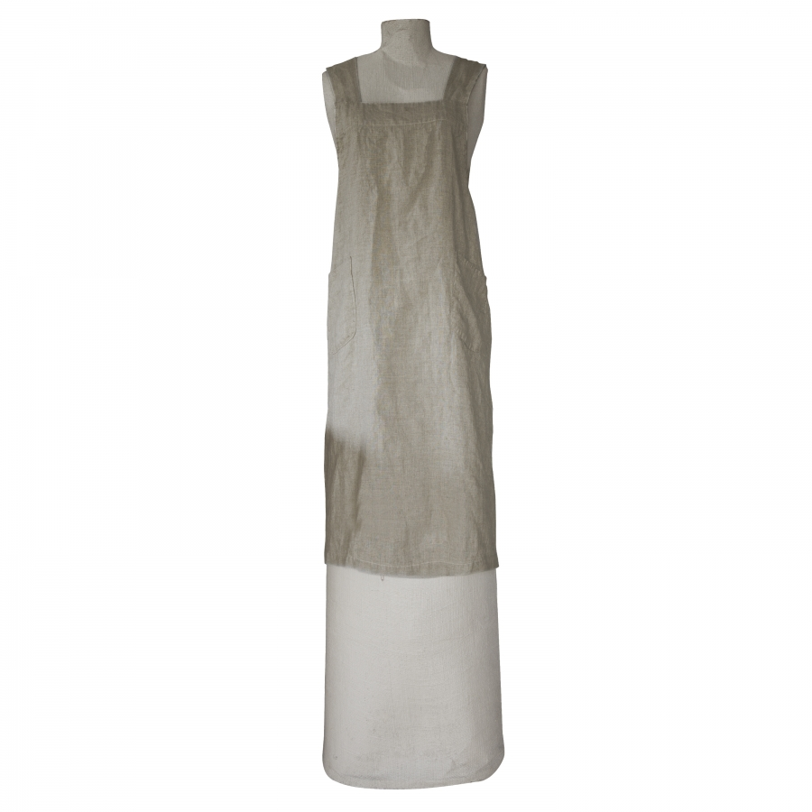 100% natutal linen apron with crossed straps
