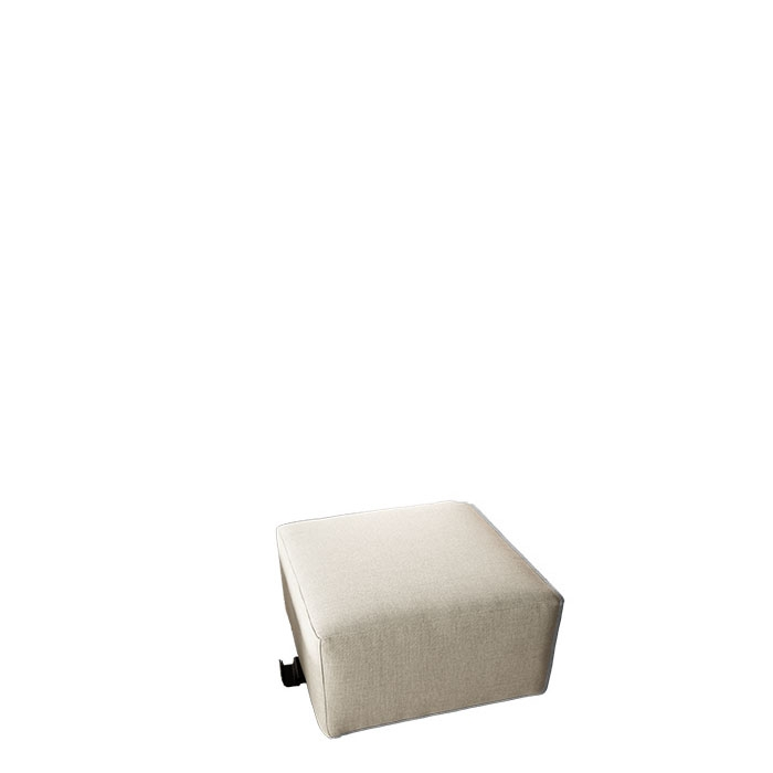Pouf with removable lining for outdoor use linen colour 67 x 67 h38 cm