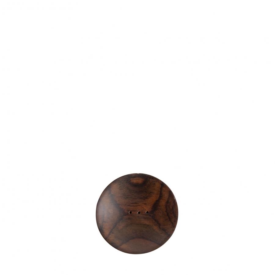 Portasapone legno scuro tondo d9 h2 cm