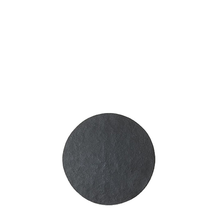 Small round tablemat in black artificial stone d23 cm