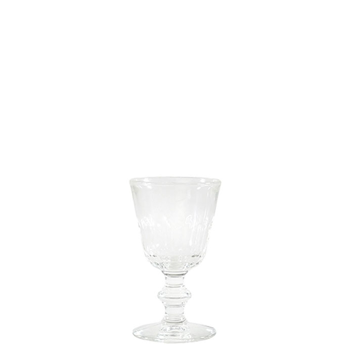 Wine transparent glass d8 h14 cm