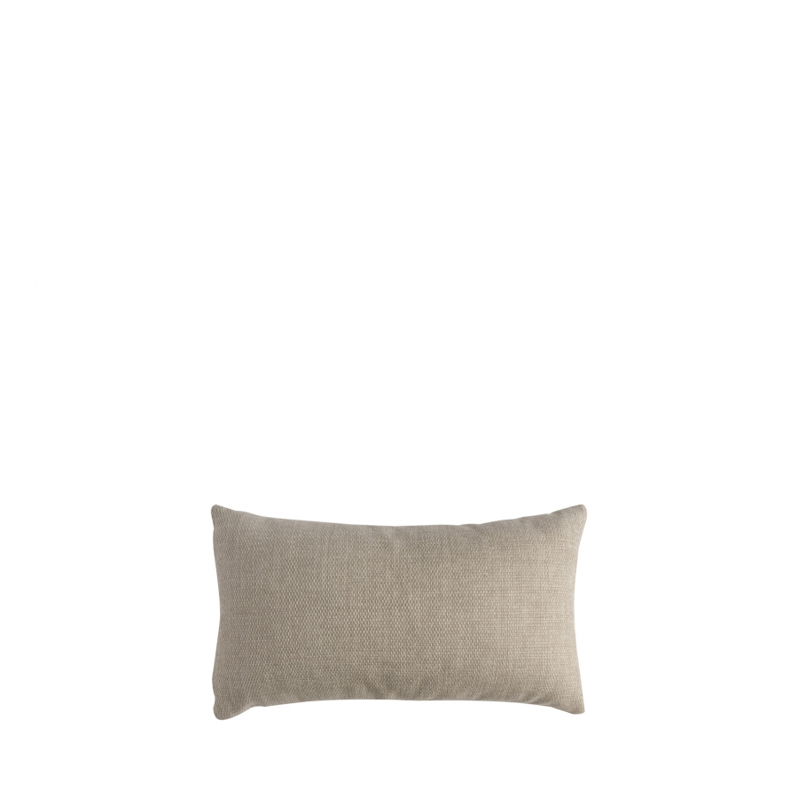 Pillow in linen colour with removable lining for outdoor use 30 x 50 cm