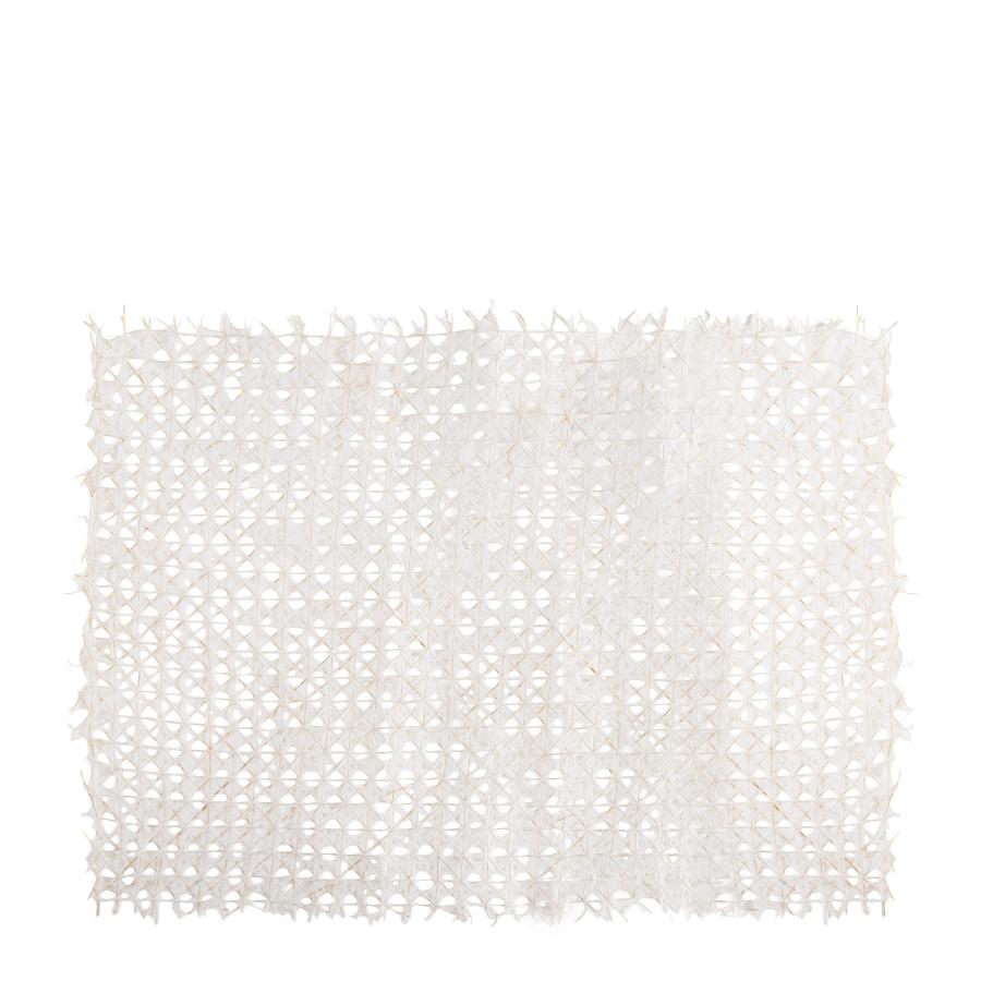 Handmade tablemat in white/golden paper 31.5x47 cm