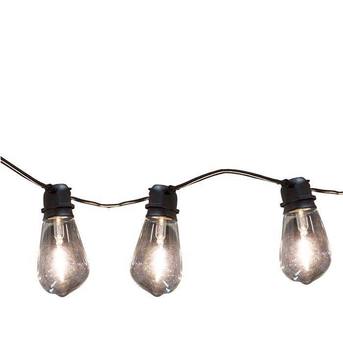 Fil extensible de 10 ampoules en verre pour int/ext(electricite)500 cm