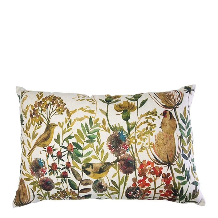 Birds and leaves throw pillow 30 x 50 cm