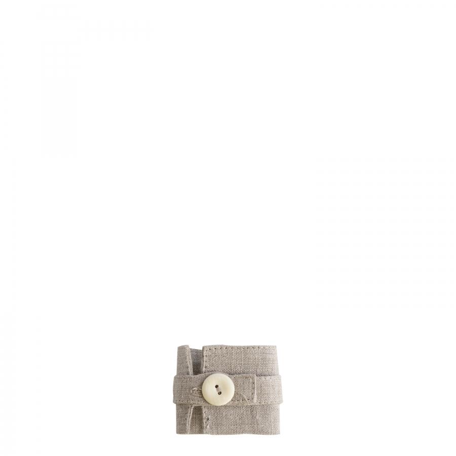 Rond de serviette en 100% lin avec bouton