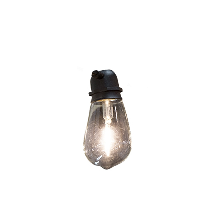 Replaceable light bulb for electric wire (indoor/outdoor use)
