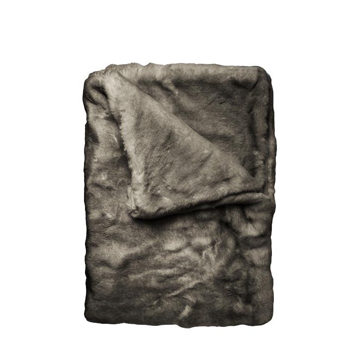Couverture fourrure fonce 130 x 160cm