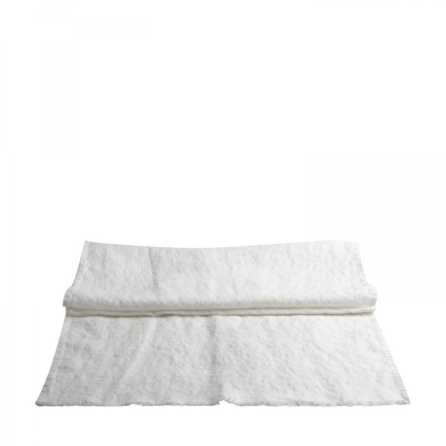 Runner 100% lin16 fringed colour white 50 x 120 cm