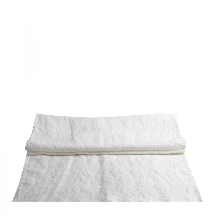 Runner 100% lin16 colour white 50 x 160 cm