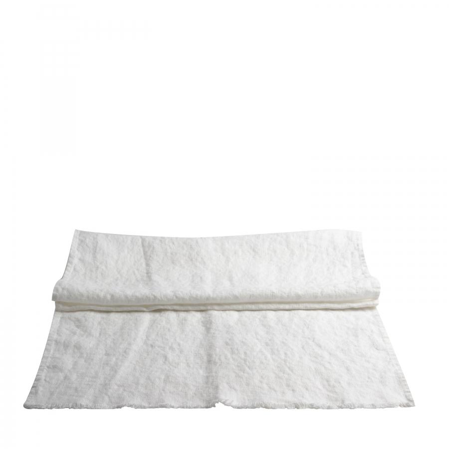 Runner 100% lin16 fringed colour white 50 x 160 cm