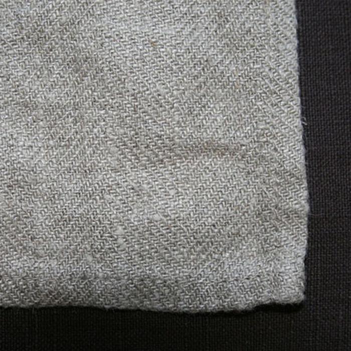 100% linen bistrot tablecloth natural colour 142 x 80 cm
