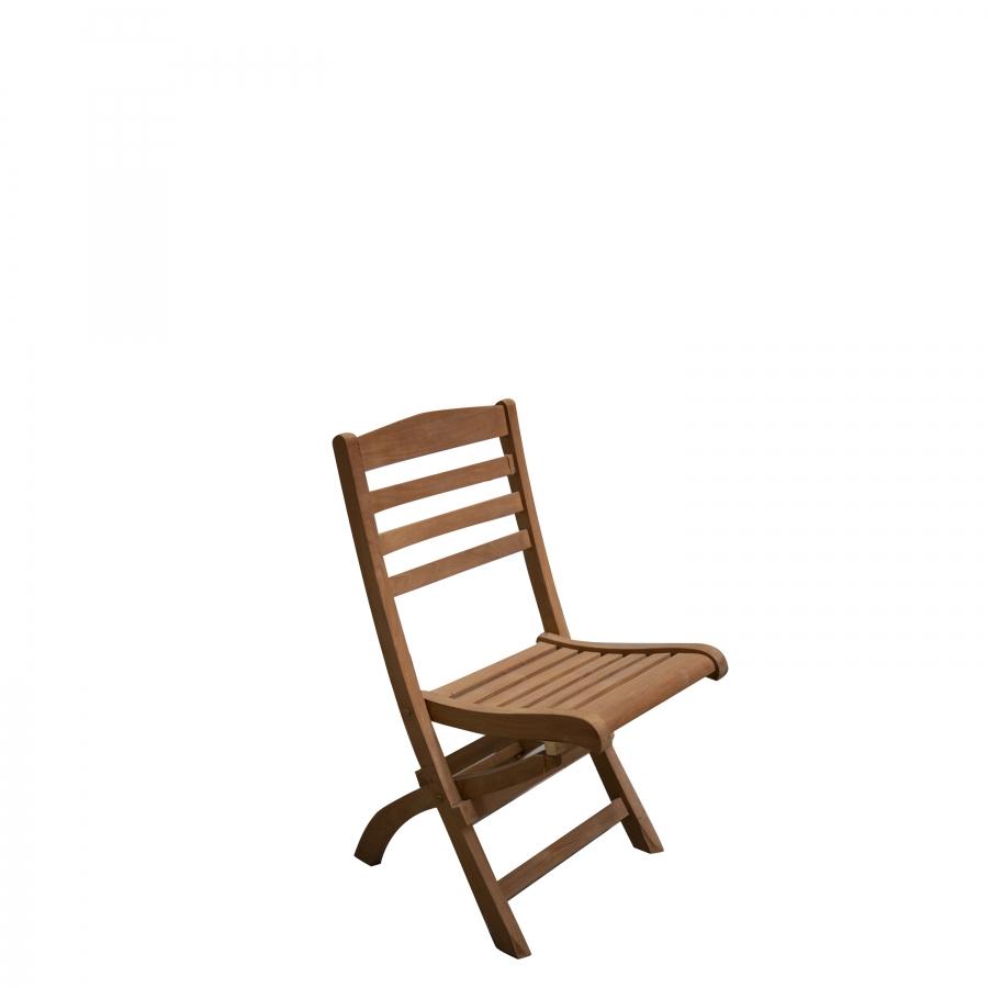 Folding chair in teak