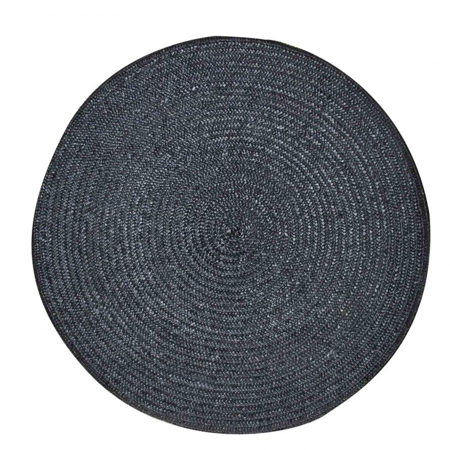 Cuscino intrecciato tondo colore nero d75 cm