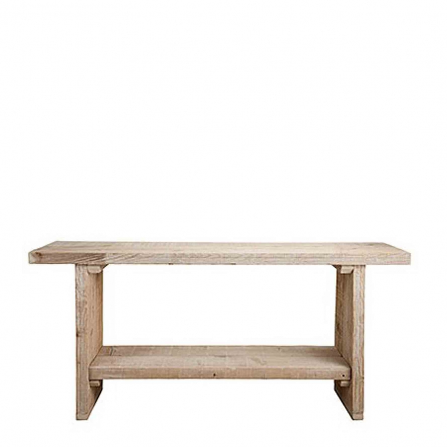 Plank 150 Cm.Raw Plank Table With One Shelf 50 X 150 H70 Cm