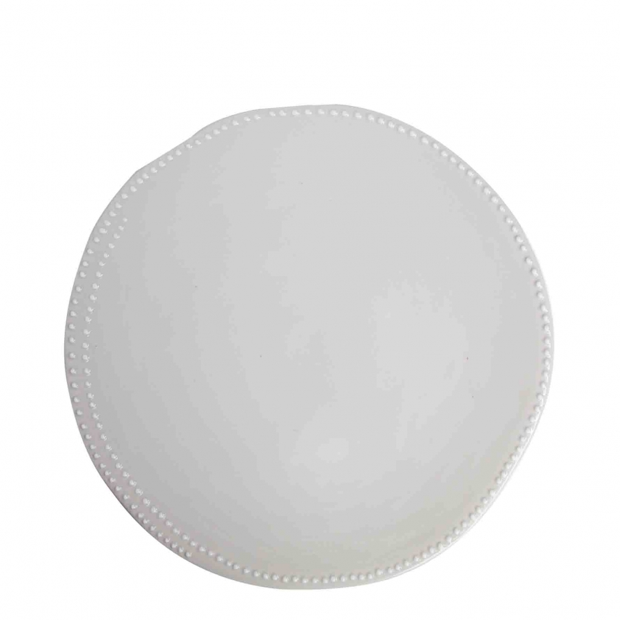 White dinner plate with dotted edge d26 cm