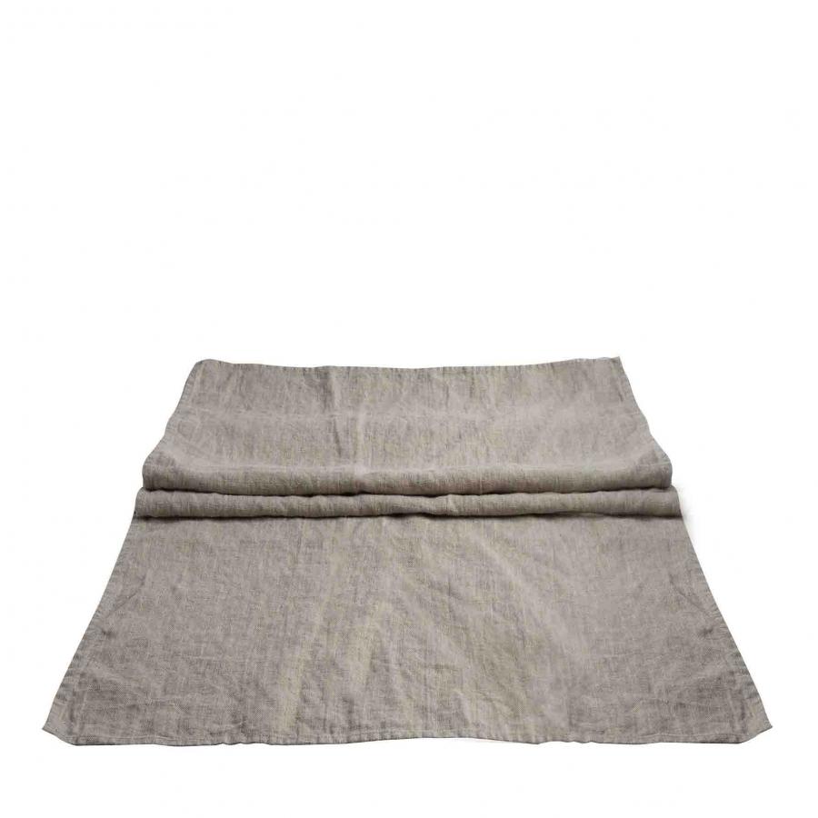 100%linen16 runner with fringes 50x160 cm