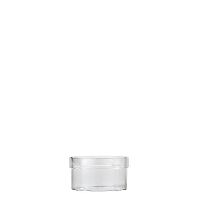 Borosilicate jar with cap d7 h5 cm