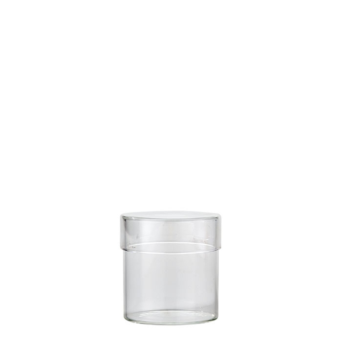 Borosilicate jar with cap d7 h8 cm