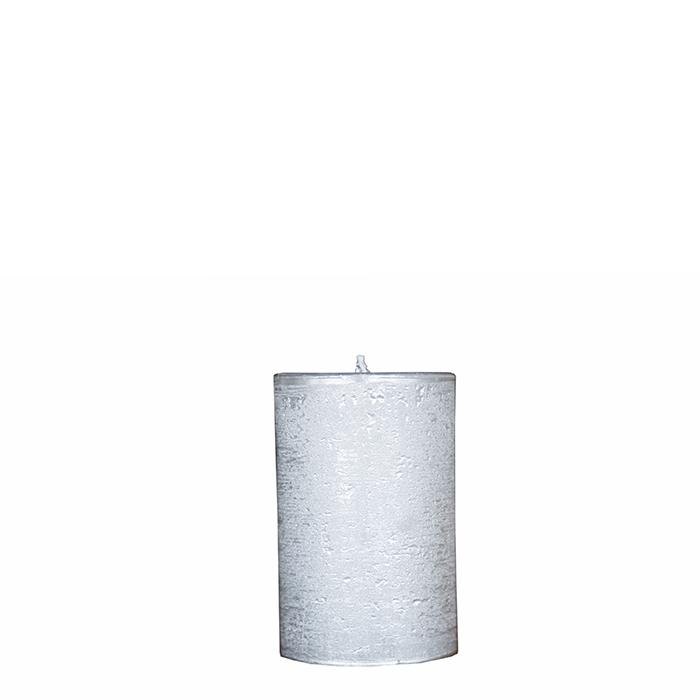 Confection de 4 bougies couleur argent antique