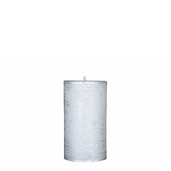 Pack of 2 antique silver candles