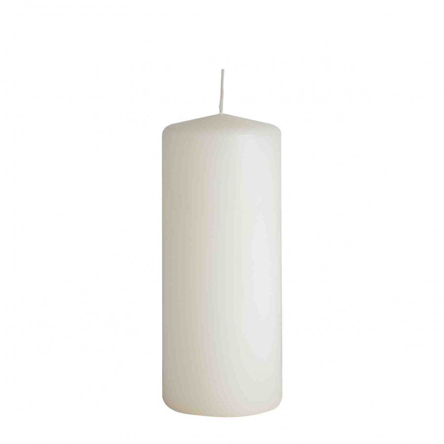 Candela cilindrica crema d8 h20