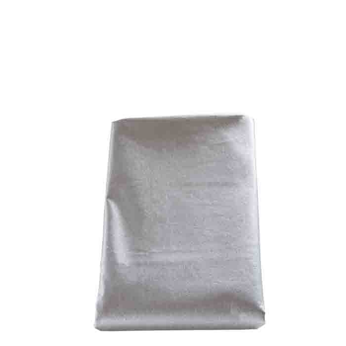 Silver waterproof tablecloth 160 x 270 cm 55%lin35%visc10%poly