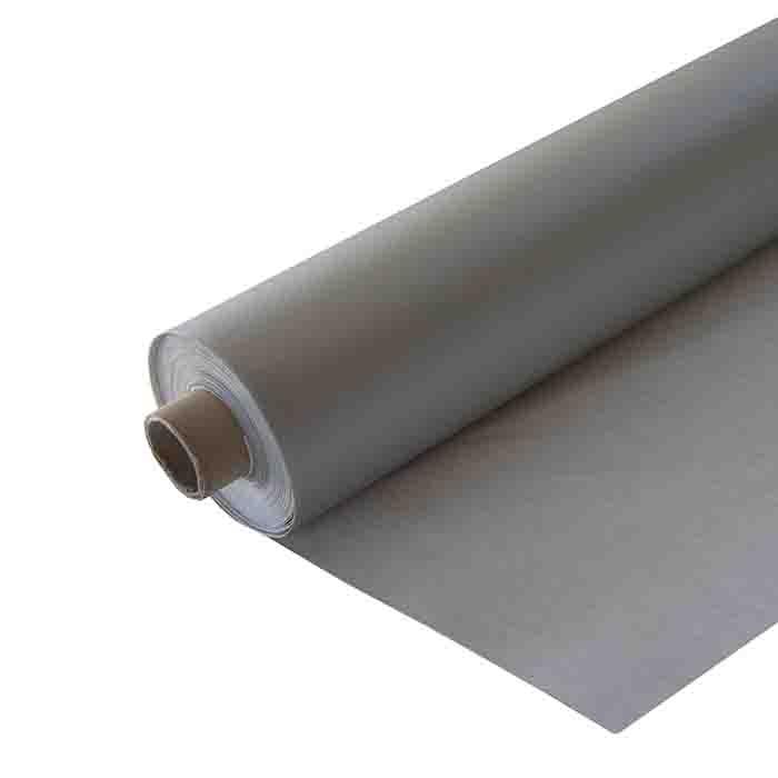 Silver waterproof 50%linen 50%cotton roll 160 x 2000 cm