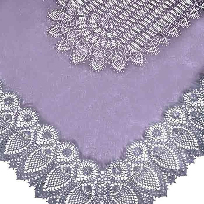 Lavender vinyl lace waterproof tablecloth 150 x 264 cm