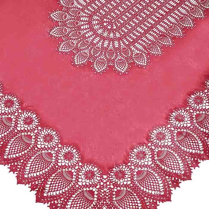 Cherry vinyl lace waterproof tablecloth 150 x 264 cm
