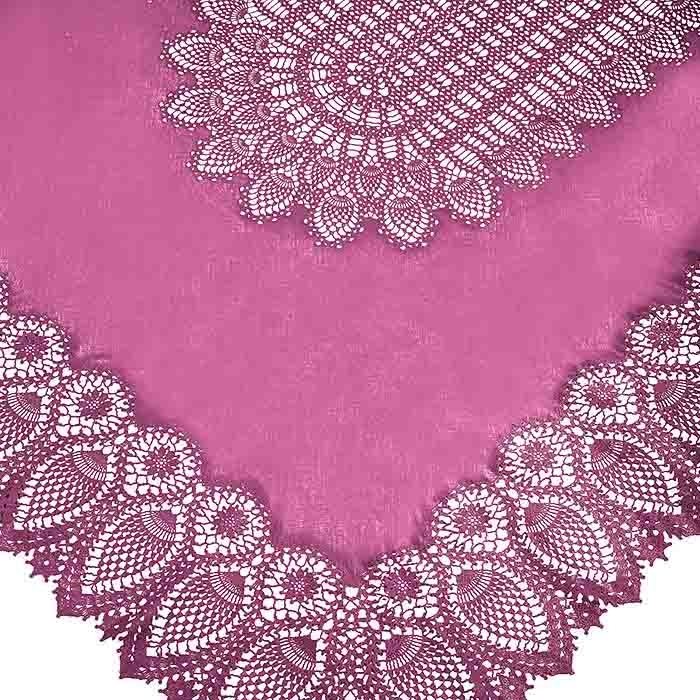 Cyclamen vinyl lace waterproof tablecloth 150 x 264 cm