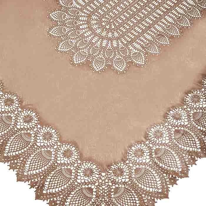 Linen vinyl lace waterproof tablecloth linen color 150 x 264 cm