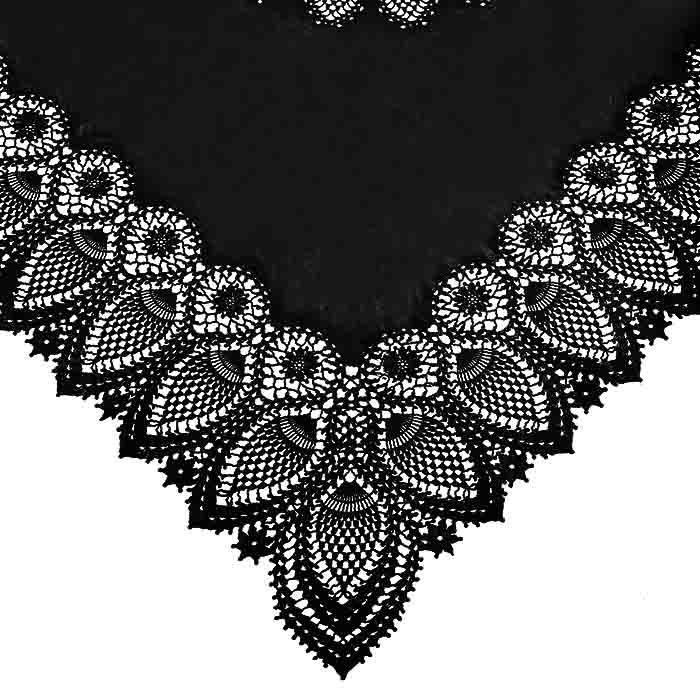 Black vinyl square lace waterproof tablecloth 137 x 137 cm