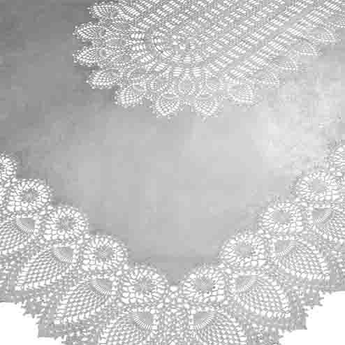 Silver vinyl lace waterproof tablecloth 150 x 264 cm