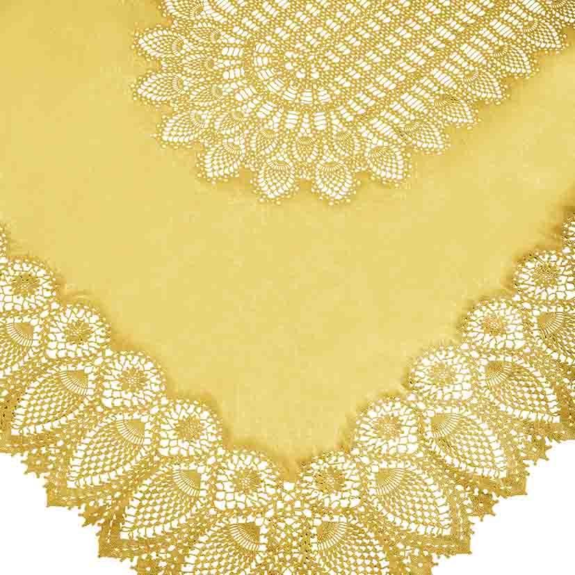 Sunflower vinyl lace waterproof tablecloth 150 x 264 cm